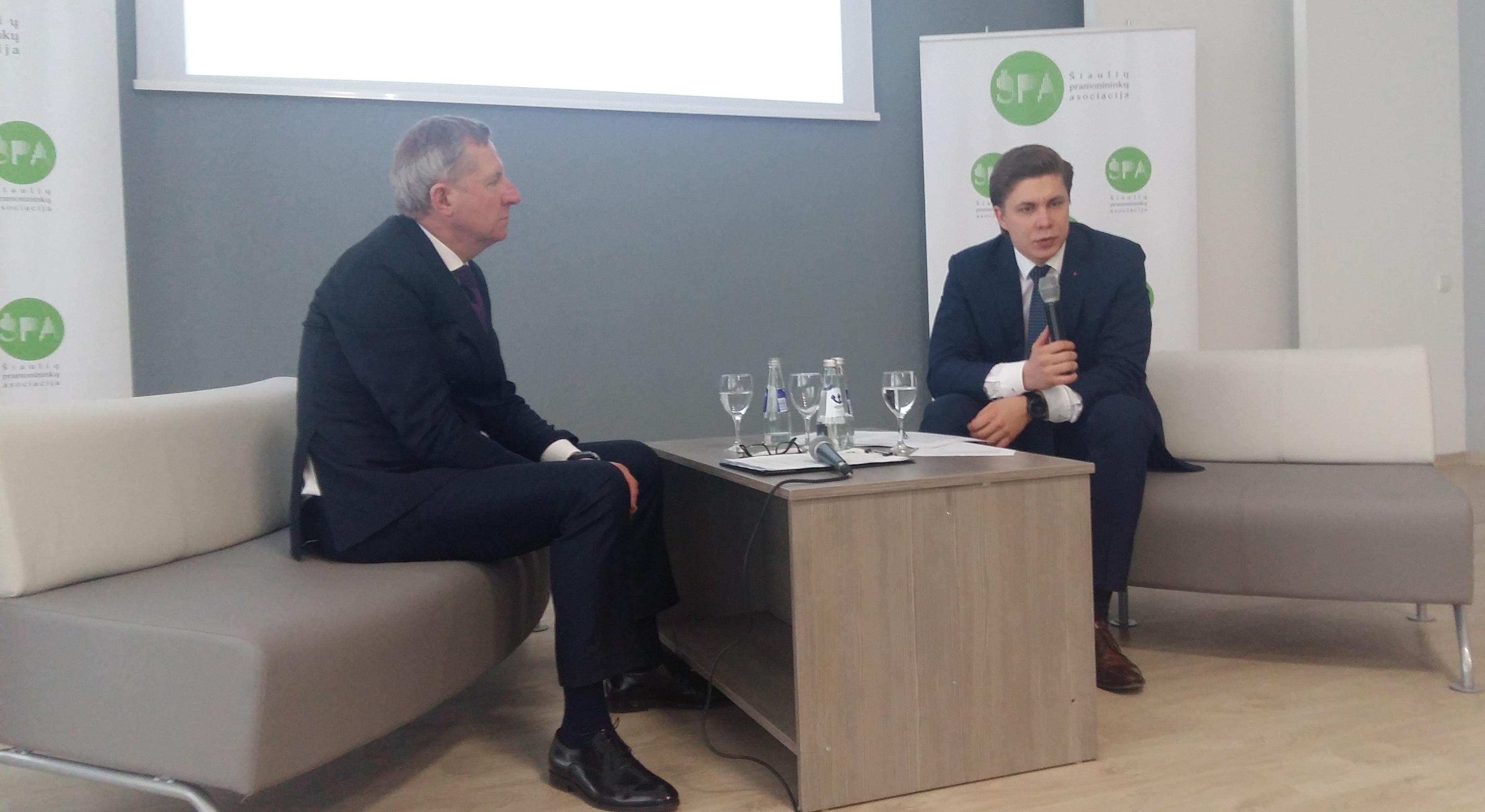 LR ūkio ministras Mindaugas Sinkevičius pristatė Šiaulių regiono pramonės ir verslo plėtros gaires