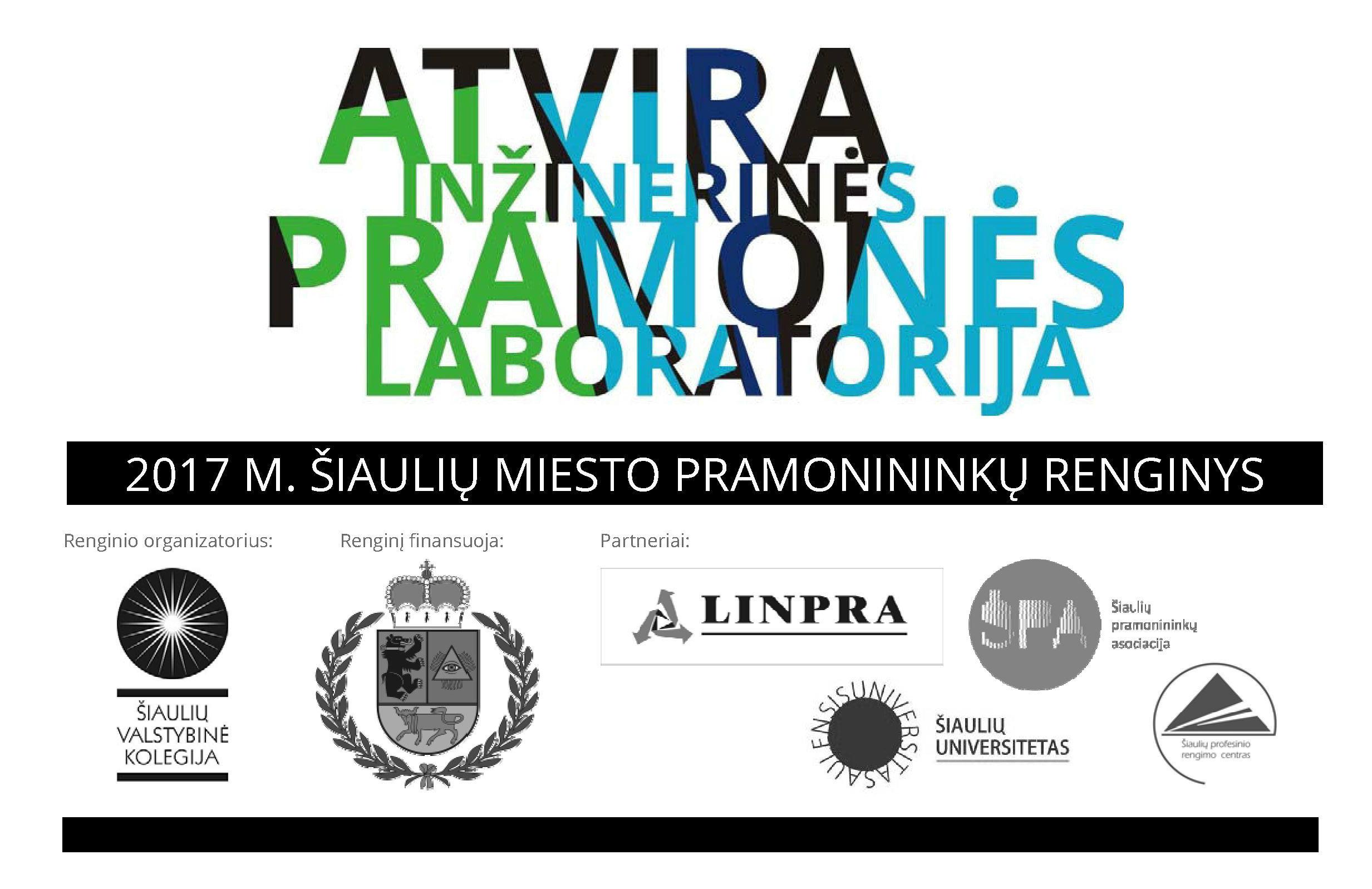 """Kviečiame Šiaulių regiono pramonės įmones dalyvauti """"Atviroje inžinerinės pramonės laboratorijoje""""."""